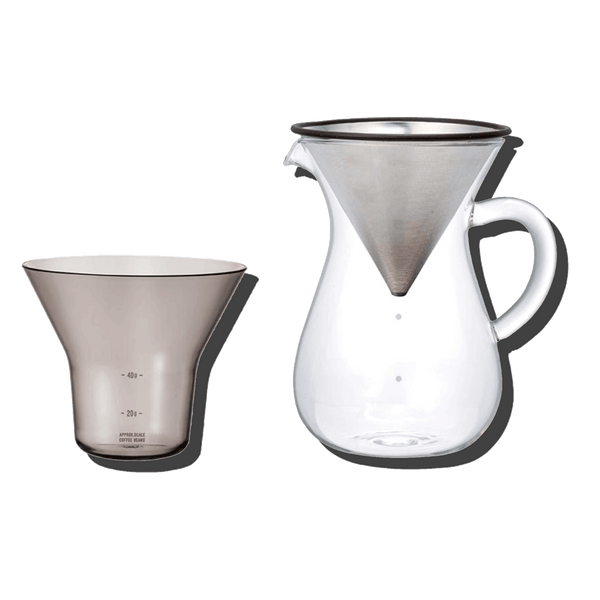 KINTO COFFEE CARAFE SET STAINLESS STEEL
