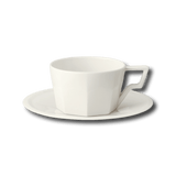 KINTO OCT CUP AND SAUCER WHITE