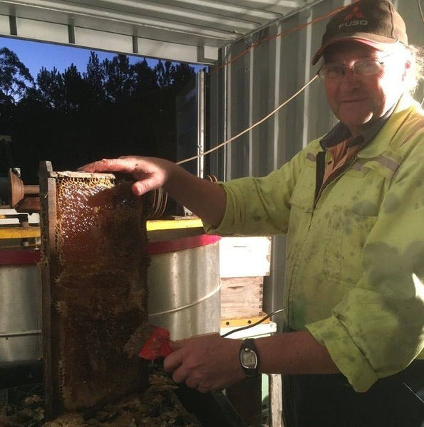 Our local bee keeper - Jim Stewart