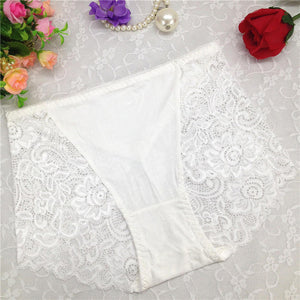 Lace Embroidery Transparent Floral Sexy Breathable Briefs