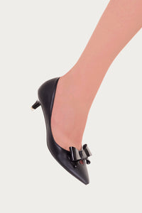 Banned Apparel - Black Belle Kitten Heel Pump Slim Fit - Egg n Chips London