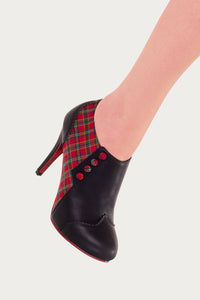 Banned Apparel - Tartan Jayne Classic Ankle Boots - Egg n Chips London
