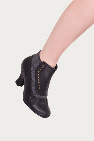 Banned Apparel - Black Gloria Vintage Studded Boots