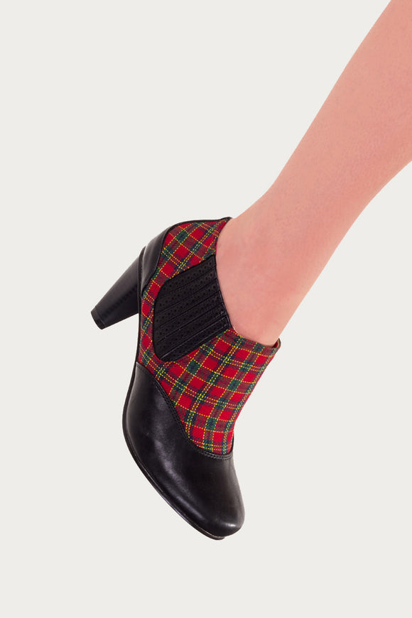 Banned apparel - Tartan Marion 80's Polkadot Boots - Egg n Chips London