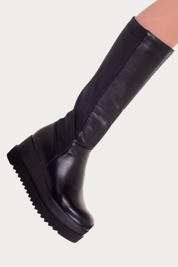 Banned Apparel - Otis Platform Stylish High Boots - Egg n Chips London