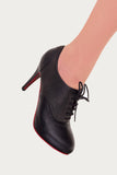 Banned Apparel - Black Olivia Kitten Heel Boots - Egg n Chips London