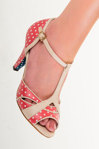 Banned Apparel - Red Norma Polkadots Dancing Shoes - Egg n Chips London