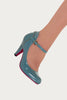 Banned Apparel - Blue Rosemary Retro Kitten Heels - Egg n Chips London