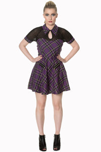 Banned Apparel - Dusk Beauty Tartan Dress - Egg n Chips London