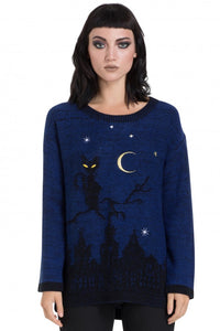 Jawbreaker Clothing - Cat In A Tree Blue Sweater