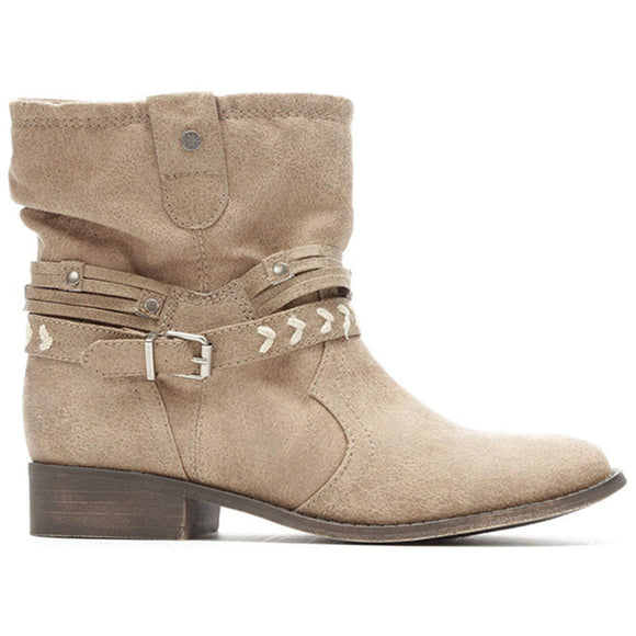 Large Size Buckle Comfy Ankle Boots