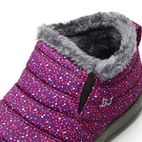 Dot Decoration Warm Wool Lining Elastic Slip On Ankle Snow Boots
