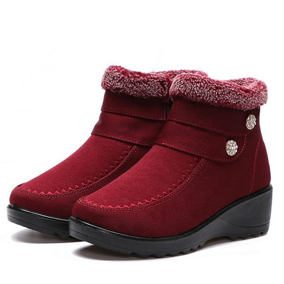 High Top Keep Warm Suede Cotton Shoes Casual Snow Boots