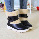 Fur Lining Keep Warm Casual Flat Snow Boots