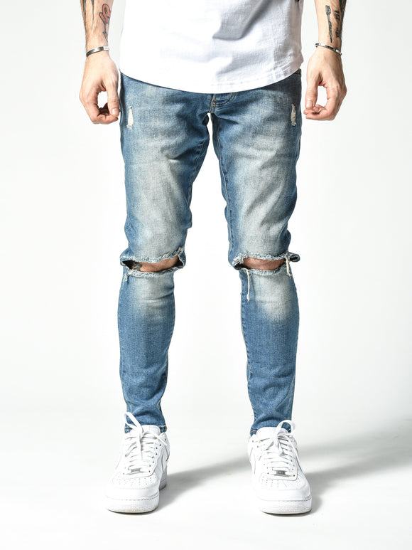 Modern Knee Ripped Jeans 4823