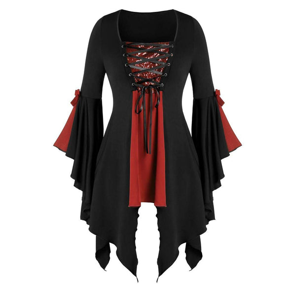 Topassion - Steampunk Lace Top