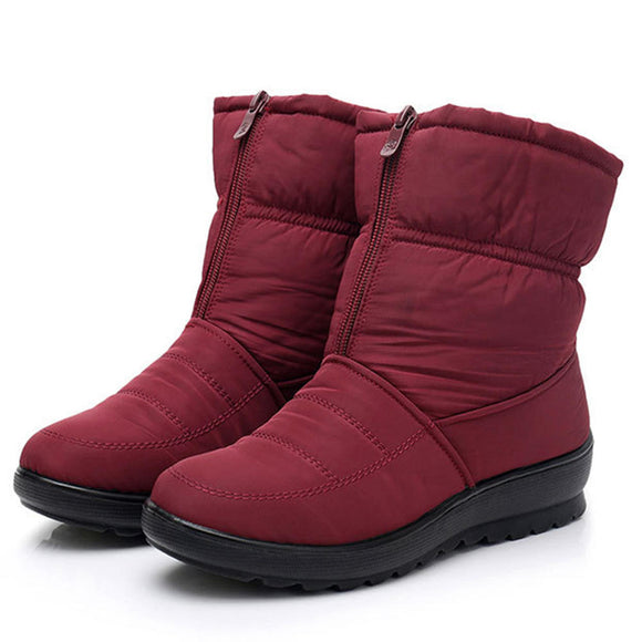 Winter Shoes Waterproof Zipper Snow Mid Calf Boots