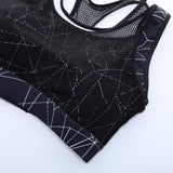 Plus Size Mesh Breathable Shockproof Quick Dry Sports Bra