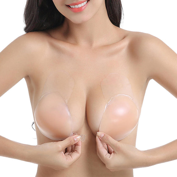 Silicone Sticky Nipplecovers Push Up Adjustable Strapless Self-adhesive  Nu Bra