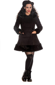 Hell Bunny Black Sarah Jane Coat