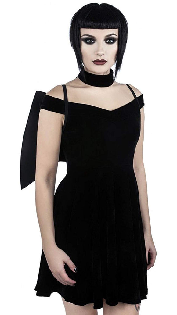Killstar Women's Plain Mao Sleeveless Dress