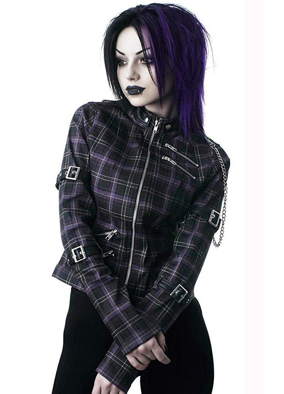 Killstar - Tartan Roz Zip Jacket Size Small