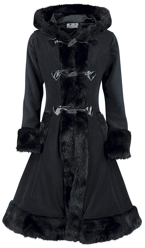 Poizen Industries - Minx Black Winter Coat