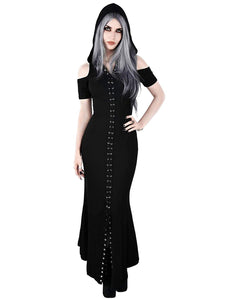 Killstar - Women's Black Gothic Hooded Dress