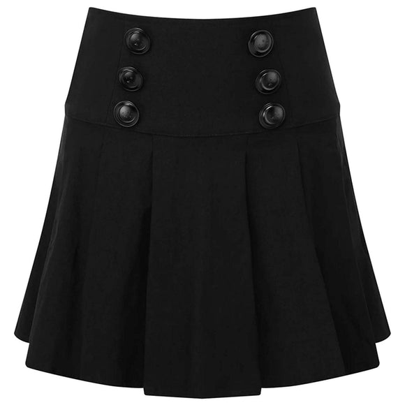 Killstar - Tsukiko A-Line Pleated Mini Skirt