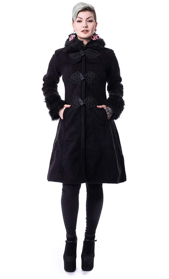 Poizen Industries - Black Gothic Winter Coat