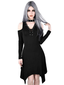 Killstar - Black Gothic Long Sleeve Dress