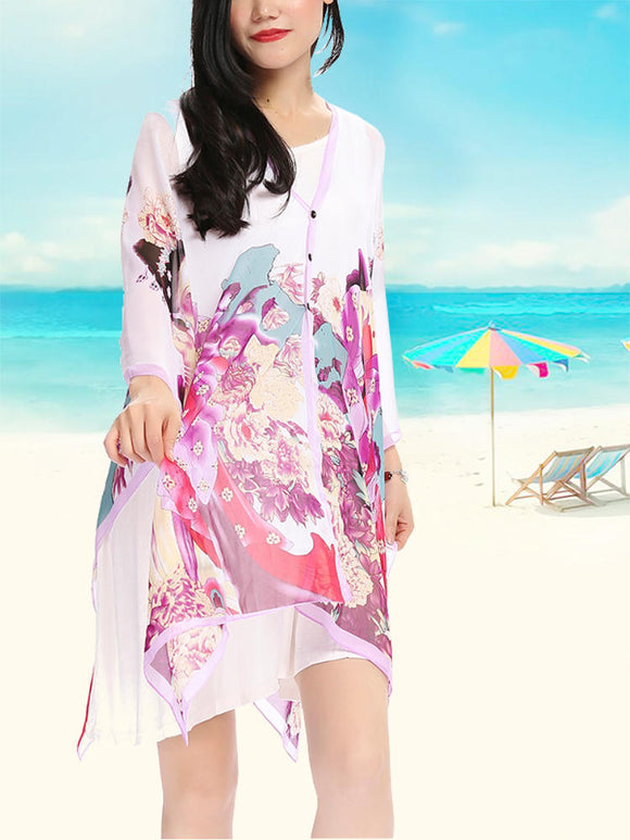 Large Cover Up Summer Multi-color Sun Protection Cover-Ups