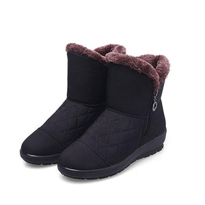 Winter Casual Fur Lining Down Ankle Snow Boots