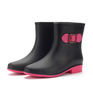 Rain Boot Casual Waterproof Non-Slip Slip On Ankle Short Boots