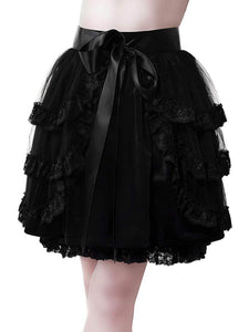 Killstar - Lace and Ruffle Gothic Skirt