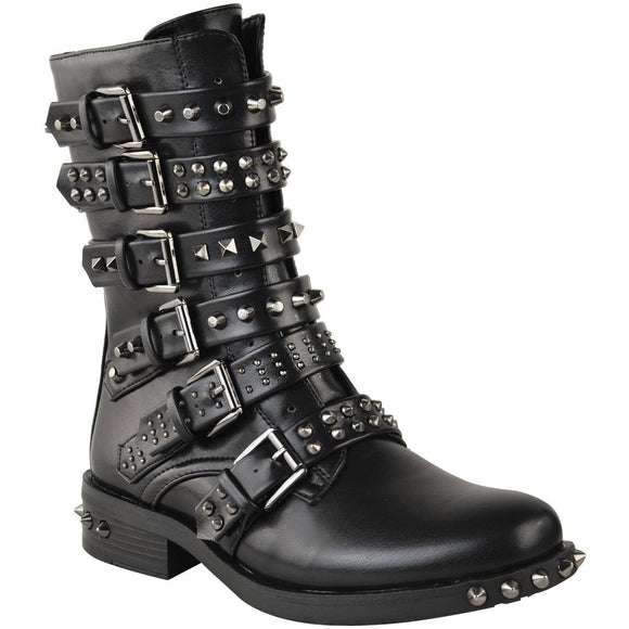 Fashion Thirsty Studded Ankle Boots