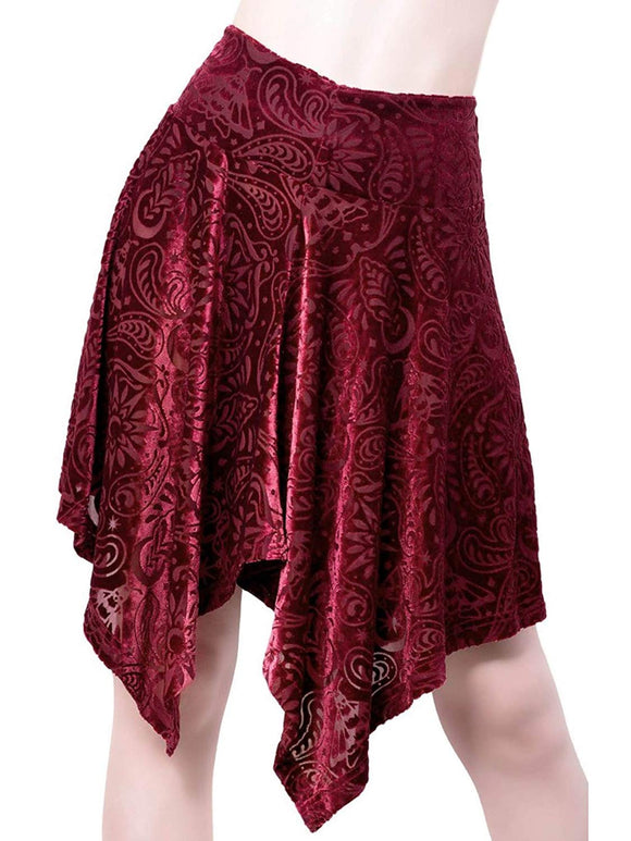 Killstar - Women's Burgundy Lace Skirt