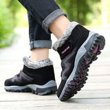 Non Slip Hook Loop Casual Ankle Boots