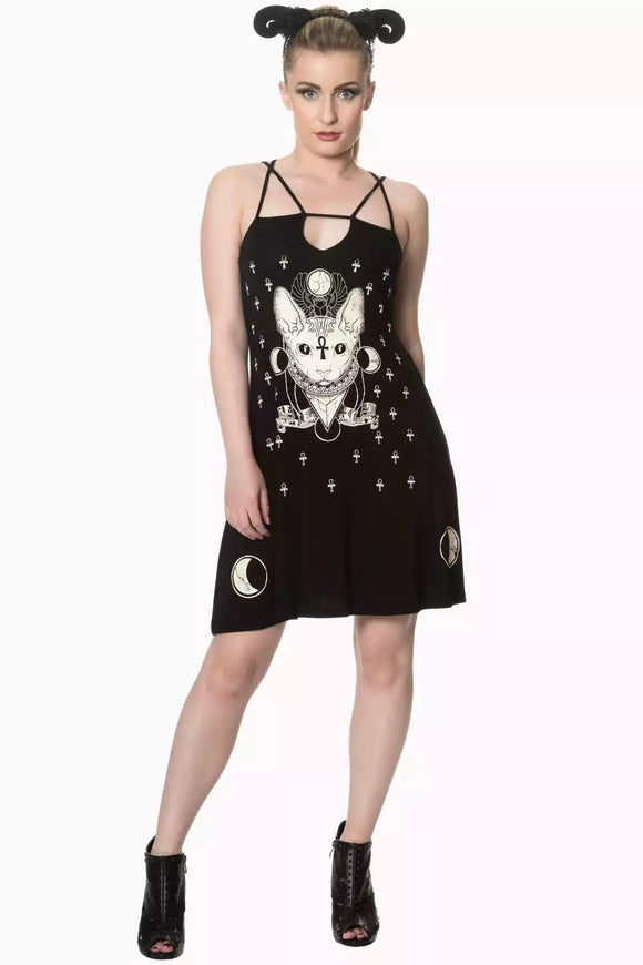 Banned Apparel - 9 Lives Strappy Dress - Egg n Chips London