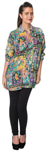Dead Threads - Women's Bright Color Print Full Sleeve Shirt