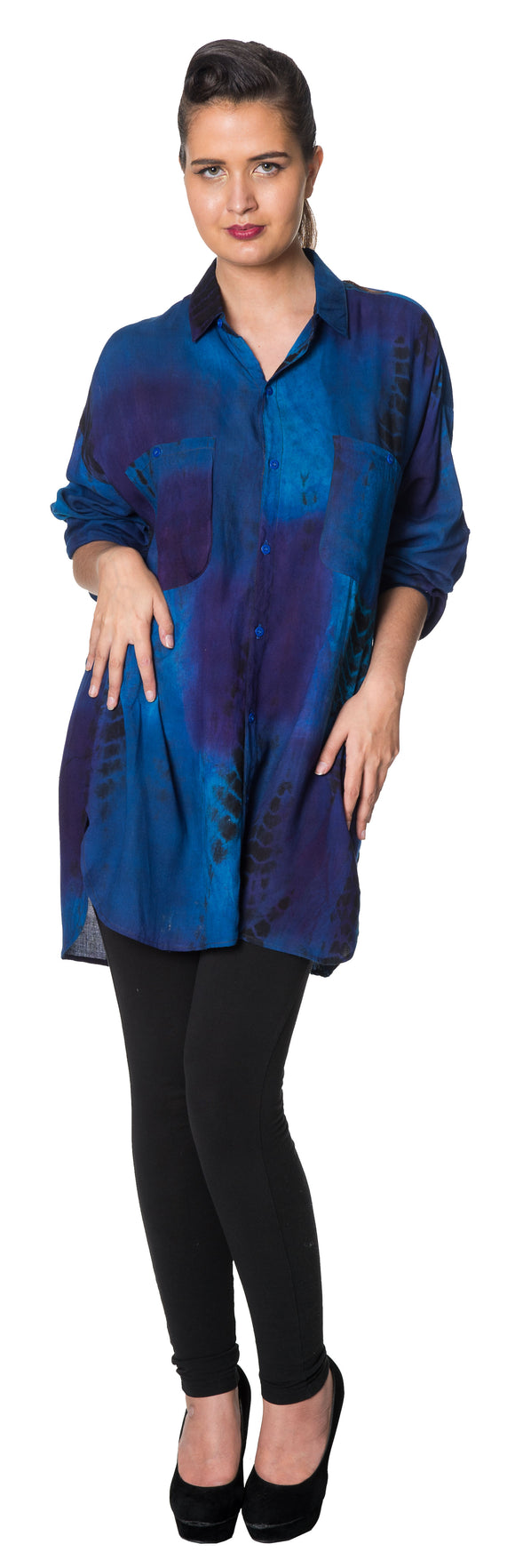 Dead Threads - Women's Blue Full Sleeve Shirt