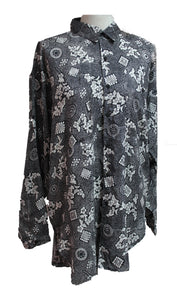 Dead Threads - Women's Gray Floral Printed Full Sleeve Shirt