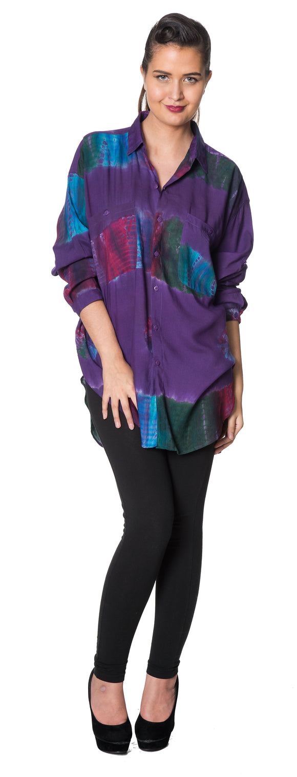 Dead  Threads - Women's Violet Full Sleeve Shirt