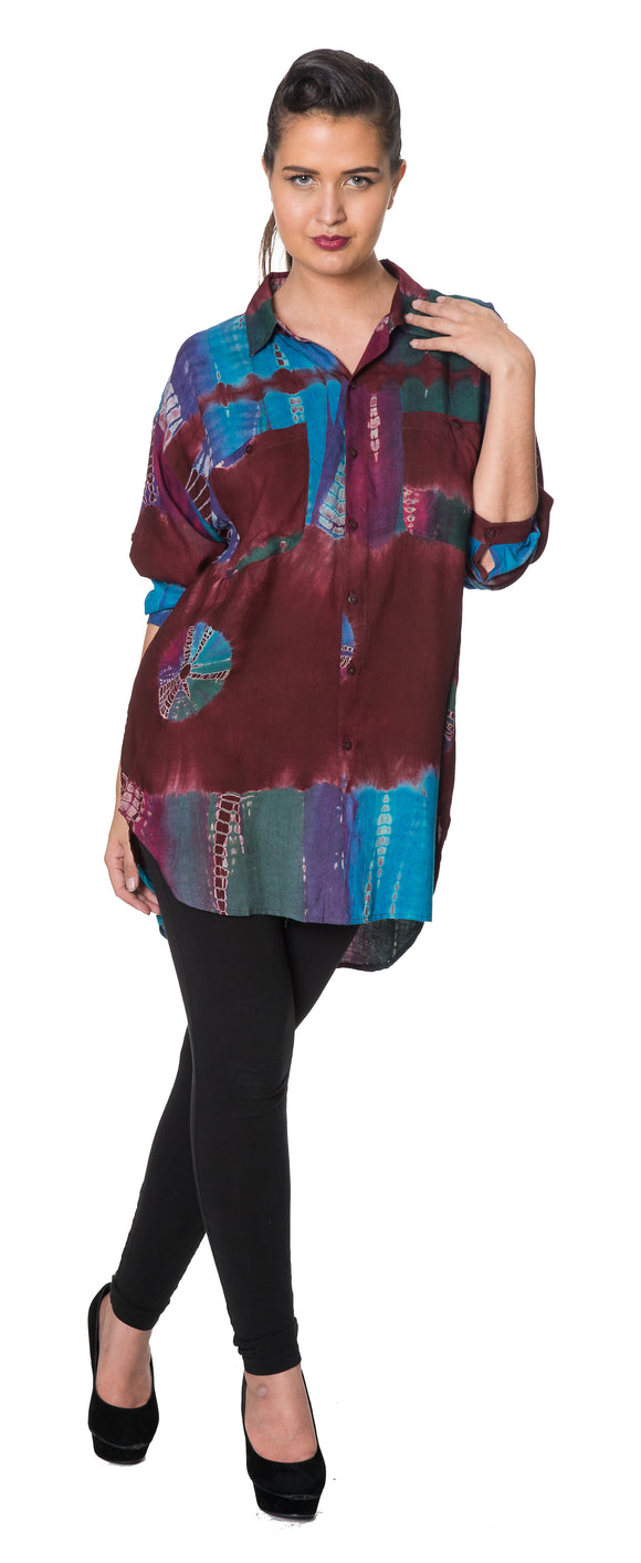 Dead Threads - Women's Maroon Full Sleeve Shirt