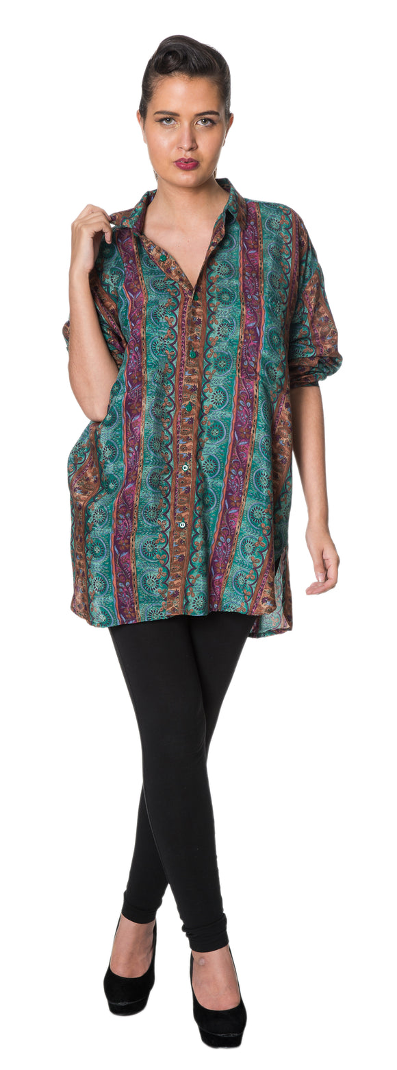 Dead Threads - Women's Green Full Sleeve Printed Shirt