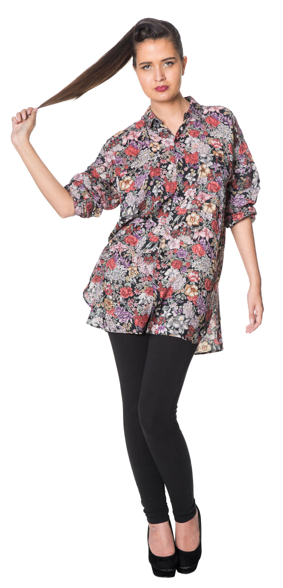 Dead Threads - Women's Floral Design Full Sleeve Shirt