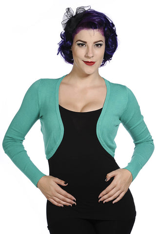 Banned Clothing - Tropical Green Plain Bolero