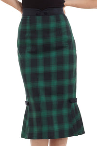 Voodoo Vixen - Agnes Green Plaid Skirt - Egg n Chips London