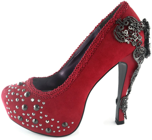Hades Shoes - Amina Red Stiletto Heels - Egg n Chips London