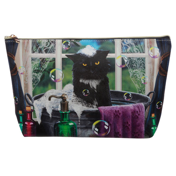 Large PVC Make Up Toiletry Wash Bag - Lisa Parker Bath Time Cat BAG187L